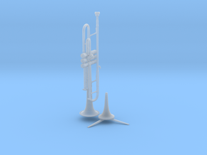 Michael's Mini Trumpet (with Stand) in Smooth Fine Detail Plastic