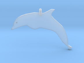 Dolphin Necklace Piece in Smoothest Fine Detail Plastic