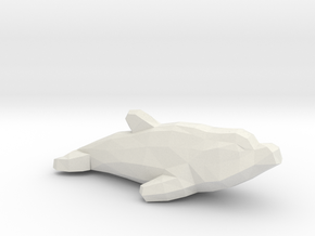 Dolphin in White Natural Versatile Plastic