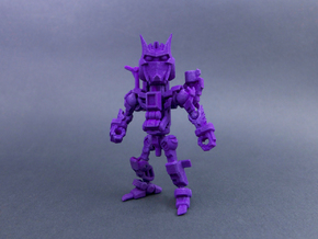 "Minibot ""Gunface"" in Purple Processed Versatile Plastic"