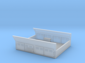 GE Gas Turbine Battery Box (Short) - (N Scale) 1:1 in Smooth Fine Detail Plastic
