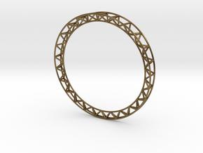 Intricate Framework Bracelet in Polished Bronze
