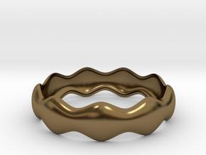 Bracciale Onda in Polished Bronze