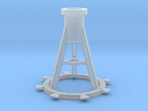 1:20 scale 20mm Oerlikon Pedestal, Late in Smooth Fine Detail Plastic