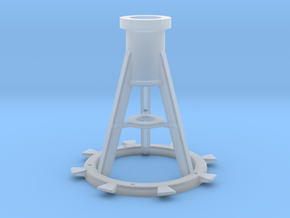 1:24 scale 20mm Oerlikon Pedestal, Late in Smooth Fine Detail Plastic