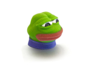 Sad Frog (Feels bad man)  in Full Color Sandstone