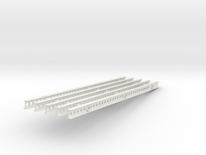 1-25 Katyusha Right Rails in White Natural Versatile Plastic
