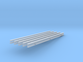 1-25 Katyusha Right Rails in Smooth Fine Detail Plastic