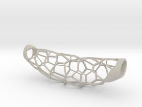 Voronoi 5 large pendant (50%infill) in Natural Sandstone