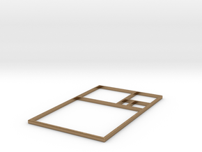 The Golden Rectangle in Natural Brass