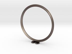 Pixel heART ring in Polished Bronzed Silver Steel