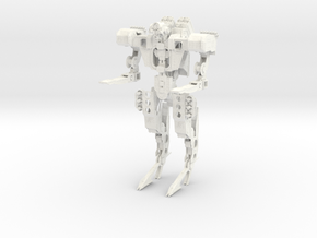 Steampunk Battle Droid in White Strong & Flexible Polished