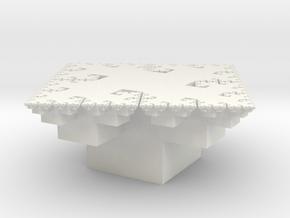 Fractal Arrangement of Cubes in White Natural Versatile Plastic