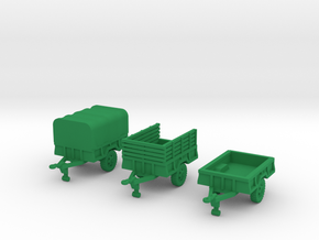 M105a2 Trailer Set in Green Strong & Flexible Polished: 1:144