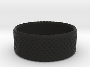 0194 Lissajous Figure Ring (Size0, 11.6mm) #005 in Black Natural Versatile Plastic