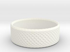 0197 Lissajous Figure Ring (Size1.5, 12.8mm) #008 in White Processed Versatile Plastic