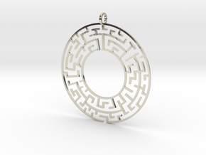 Maze in 14k White Gold