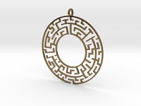 Maze in Polished Bronze