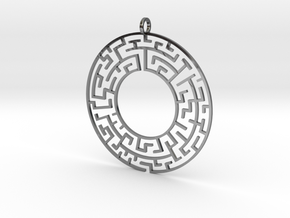 Maze in Fine Detail Polished Silver