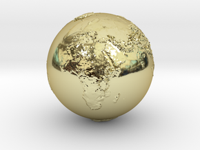 Earth Relief Hollow in 18k Gold Plated Brass