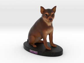 Custom Dog Figurine - Mini in Full Color Sandstone