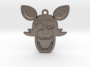 Five Nights at Freddy's Foxy Pendant in Polished Bronzed Silver Steel