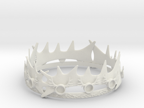 Robert Baratheons Crown in White Natural Versatile Plastic