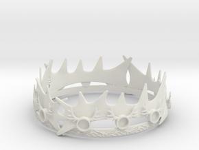 Robert Baratheons Crown in White Natural Versatile Plastic