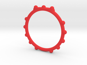 kinda lucky 13 beaded ring in Red Processed Versatile Plastic