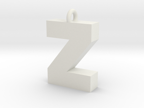 Alphabet (Z) in White Natural Versatile Plastic