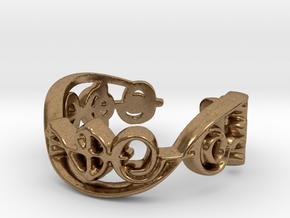 """""""IDIC"""" Vulcan Script Ring - Cut Style in Natural Brass: 7 / 54"""