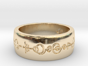 """Live Long & Prosper"" Ring - Engraved Style in 14k Gold Plated Brass: 8 / 56.75"