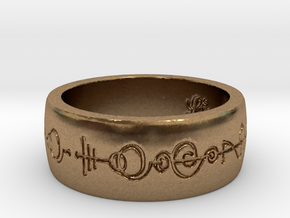 """Live Long & Prosper"" Ring - Engraved Style in Natural Brass: 8 / 56.75"