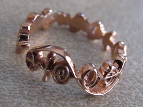 """""""Live Long & Prosper"""" Ring - Cut Style in 14k Rose Gold Plated Brass: 7 / 54"""