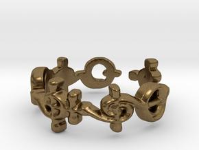 """T'hy'la"" Vulcan Script Ring - Cut Style in Natural Bronze: 7 / 54"