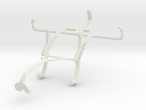 Controller mount for Xbox 360 & Yezz Andy 4E2I in White Natural Versatile Plastic