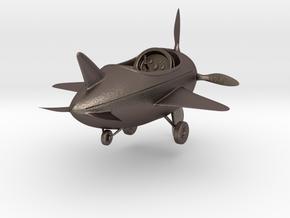 Cartoon Plane(Medium) in Polished Bronzed Silver Steel