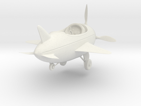 Cartoon Plane(Medium) in White Natural Versatile Plastic