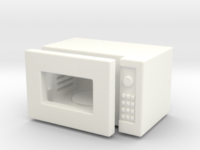 Dollhouse miniature microwave, 1:24 scale in White Processed Versatile Plastic