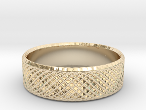 0207 Lissajous Figure Ring (Size4, 14.8mm) #013 in 14k Gold Plated Brass