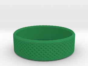 0207 Lissajous Figure Ring (Size4, 14.8mm) #013 in Green Processed Versatile Plastic