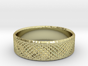 0208 Lissajous Figure Ring (Size4.5, 15.2mm) #014 in 18k Gold Plated Brass