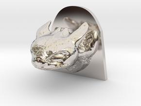 Dragon Head in Platinum