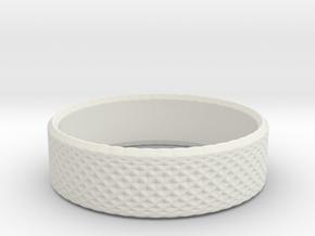 0209 Lissajous Figure Ring (Size5, 15.7mm) #015 in White Natural Versatile Plastic
