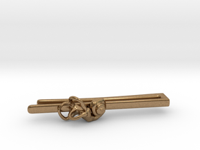 Anatomical Tie Clip with (Right) Cochlea in Natural Brass