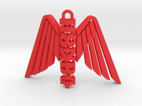 Honda Wing Statuette Pendant in Red Processed Versatile Plastic