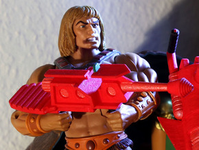 Castle Grayskull Prototype Turret Cannon Rifle in Red Processed Versatile Plastic