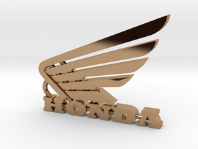 Honda Keychain Pendant  in Polished Brass
