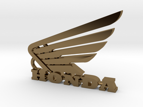 Honda Keychain Pendant  in Polished Bronze