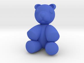 Teddy Bear 2'' in Blue Processed Versatile Plastic
